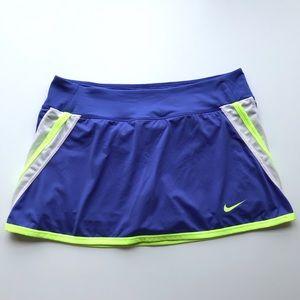 Nike Dri-Fit Tennis Skort Purple/Neon Yellow